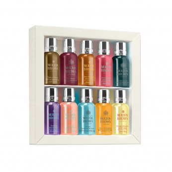MOLTON BROWN BODY ESSENTIALS REFINED DISCOVERIES BATH & SHOWER COLLECTION 10 X 30ML