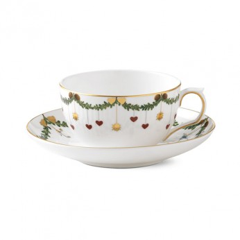 Royal Copenhagen 1019974 Star Fluted Christmas Star Fluted Tea Cup